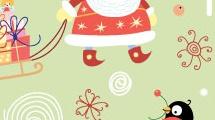 Simpático fondo navideño