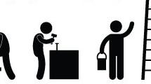 11 siluetas de hombres trabajando