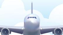 Avión entre nubes