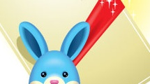 Conejo de pascua con regalo