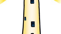 Faro marítimo amarillo