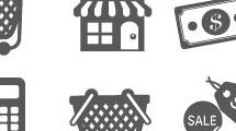 Iconos grises sobre compra  y venta