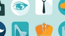 Iconos sobre compras y ocio