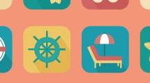 Iconos sobre las vacaciones