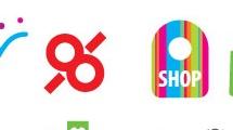 Logos sobre locales de venta al público