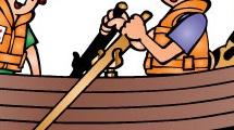 Muchachos navegando
