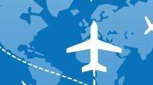 Planisferio con vuelos