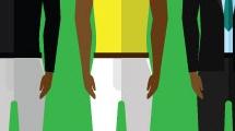 Set con hombres de color