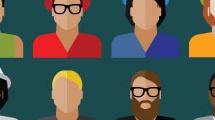 Set con iconos masculinos