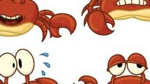 Caricaturas de cangrejos