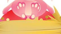 Conejo de pascua rosado