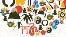 Farol con iconos chinos