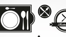 Iconos de restaurantes y casa de comida