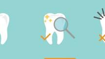 Iconos sobre cuidado dental