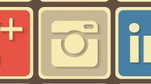 Iconos sociales vintage