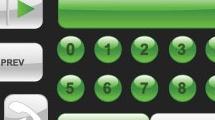 Iconos verdes para página web