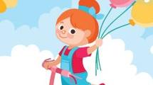 Nena con globos