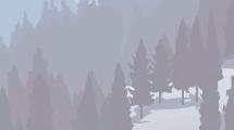 Paisaje montañoso con pinos