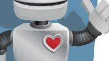 Robot levantando el dedo pulgar