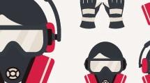 Set con iconos sobre seguridad