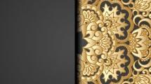 Tarjeta con encaje dorado