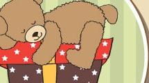 Tarjeta de cumpleaños con oso