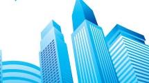 Vista de ciudad azul