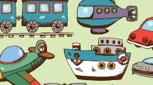 Dibujos infantiles de transportes