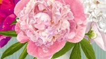 Florero con claveles