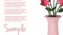 Florero con rosas realistas