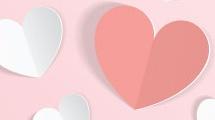 Ilustración con corazones de papel