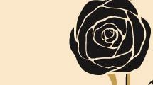 Tarjeta con ramo de rosas