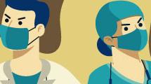 Lucha de los médicos contra virus