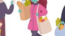 Gente haciendo compras