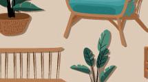 Iconos de muebles para jardín