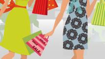 Mujeres jóvenes de compras