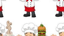 Set con seis cocineros