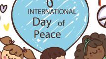 Cartel para el día internacional de la paz