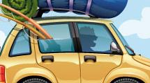 Viaje de vacaciones en auto