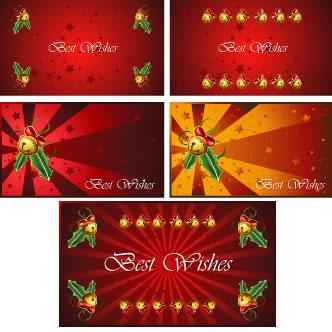 tarjetas de navidad previa del vector