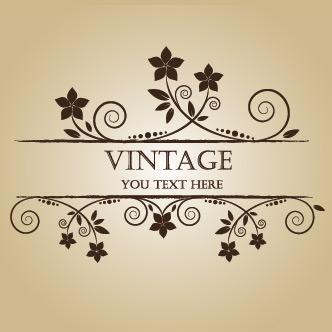 Vector Gratis De Banner Con Flores Vintage