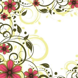 Borde Flores Rojas