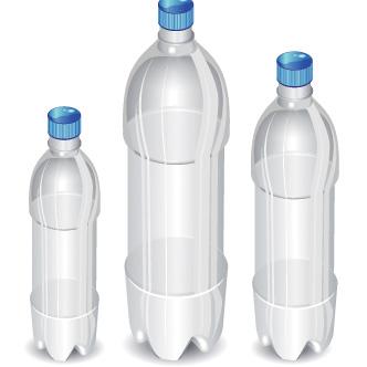 botellas de plstico previa del vector