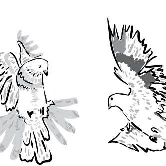 20e5a487cb75e Vector gratis de Dibujo artístico de palomas