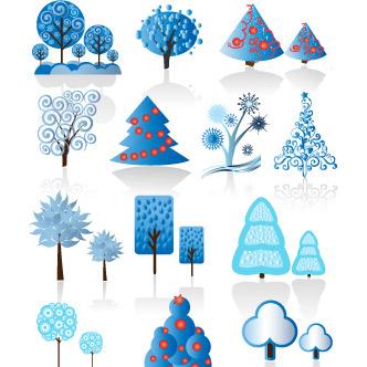 diseos y tarjetas para navidad previa del vector