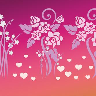 vector gratis de flores con corazones rosas imagenes de corazones con rosas