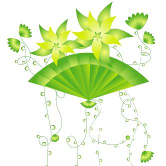 Vector Gratis De Flores Verdes 2
