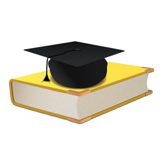 Gorro de graduación. Previa del vector