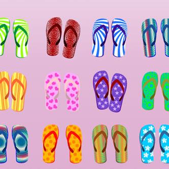 Vector Gratis De Hawaianas En Varios Modelos De Diferentes Colores