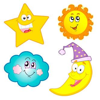 Previa Del Vector. Imagenes Infantiles De Luna Dibujo ...